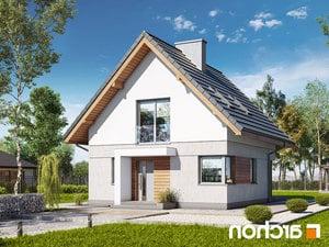 projekt Dom na wzgórzu (N) lustrzane odbicie 1