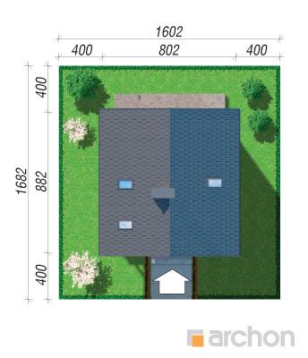 projekt Dom na wzgórzu (N) sytuacja