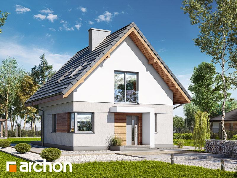 gotowy projekt Dom na wzgórzu (N) widok 1