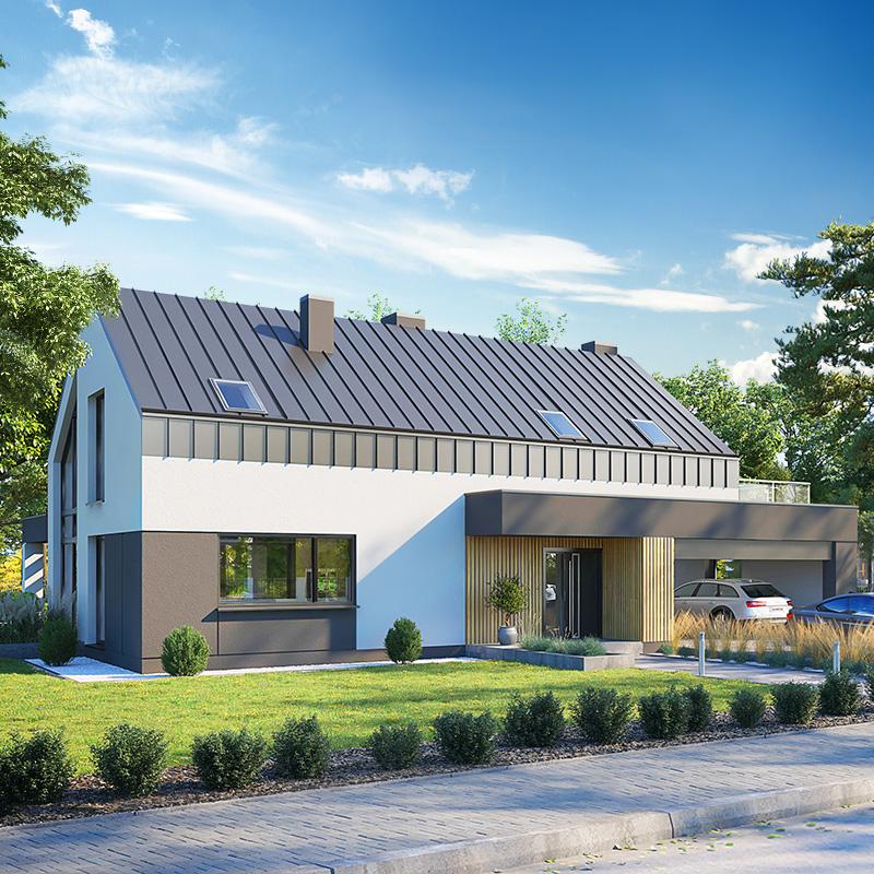 gotowy projekt Dom w kellerisach (G2) widok 2