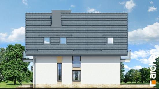 Elewacja boczna projekt dom w rododendronach 21 n  265