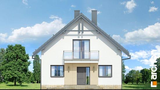 Elewacja frontowa projekt dom w rododendronach 21 n  264