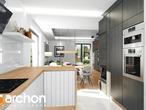 projekt Dom w rododendronach 21 (N) Wizualizacja kuchni 1 widok 2