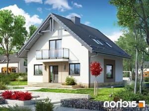projekt Dom w rododendronach 21 (N) lustrzane odbicie 1