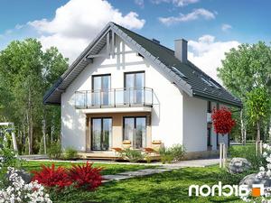 projekt Dom w rododendronach 21 (N) lustrzane odbicie 2