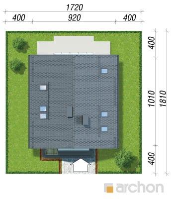 projekt Dom w rododendronach 21 (N) sytuacja