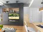 projekt Dom w rododendronach 21 (N) Strefa dzienna (wizualizacja 1 widok 2)