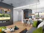 projekt Dom w rododendronach 21 (N) Strefa dzienna (wizualizacja 1 widok 3)