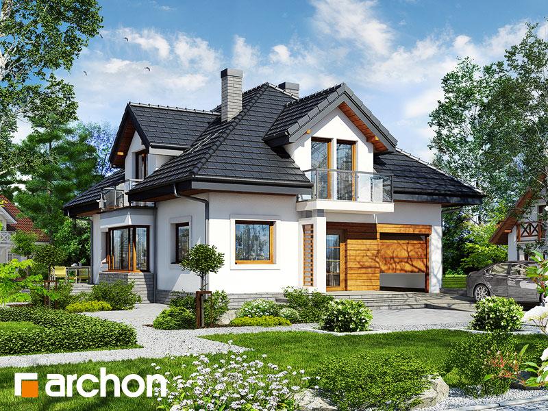 projekt domu dom w abeliach archon. Black Bedroom Furniture Sets. Home Design Ideas