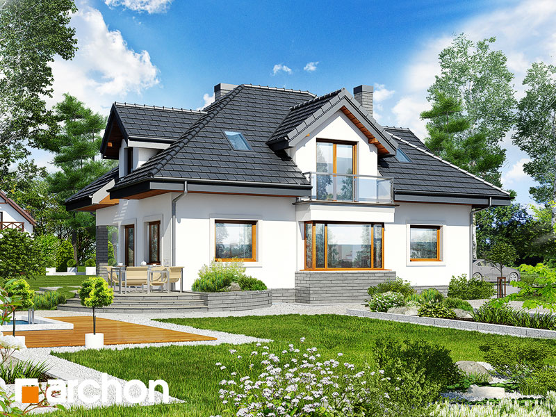gotowy projekt Dom w abeliach widok 1