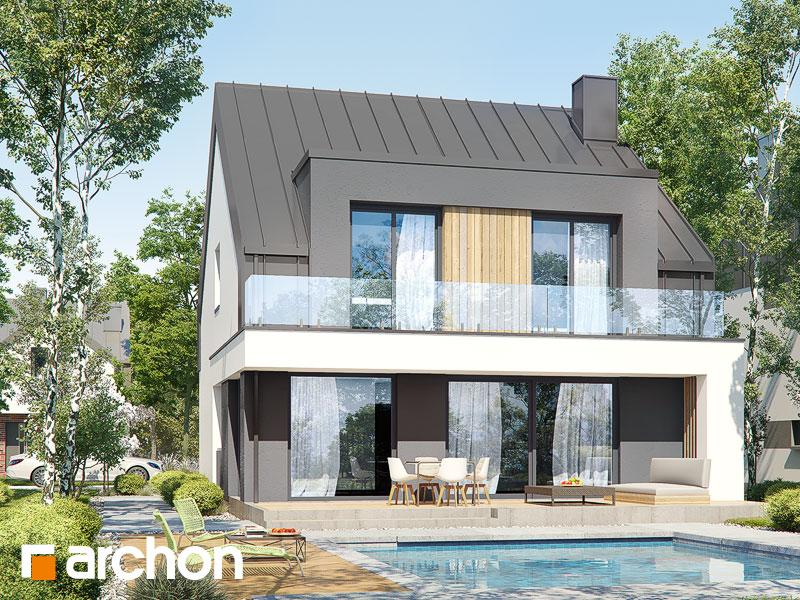gotowy projekt Dom w klematisach 29 widok 1