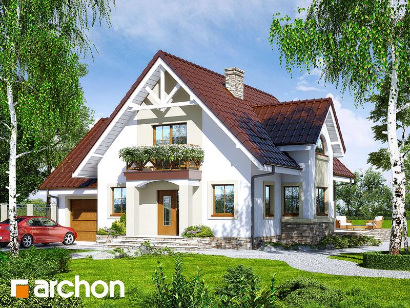 gotowy projekt Dom w morelach 2 widok 1