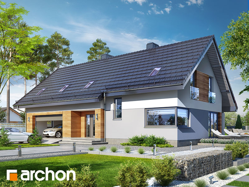 gotowy projekt Dom w jonatanach 2 (G2) widok 1