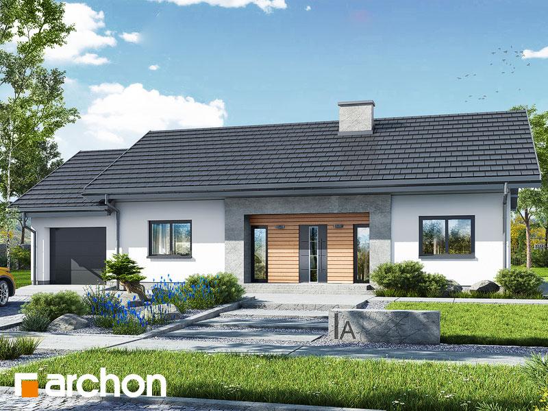 gotowy projekt Dom w kostrzewach 4 (G) widok 1