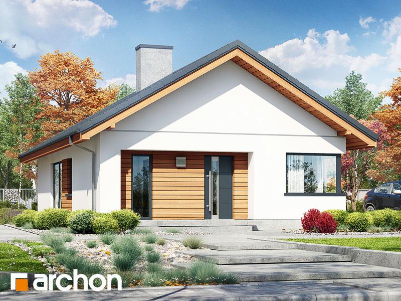gotowy projekt Dom pod pomarańczą widok 1