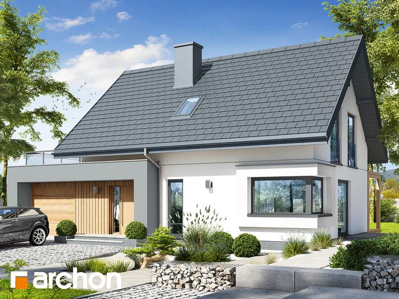 gotowy projekt Dom w zielistkach 12 (G) widok 1