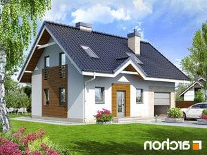 projekt Dom w borówkach 2 lustrzane odbicie 1
