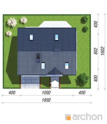 projekt Dom w borówkach 2 sytuacja