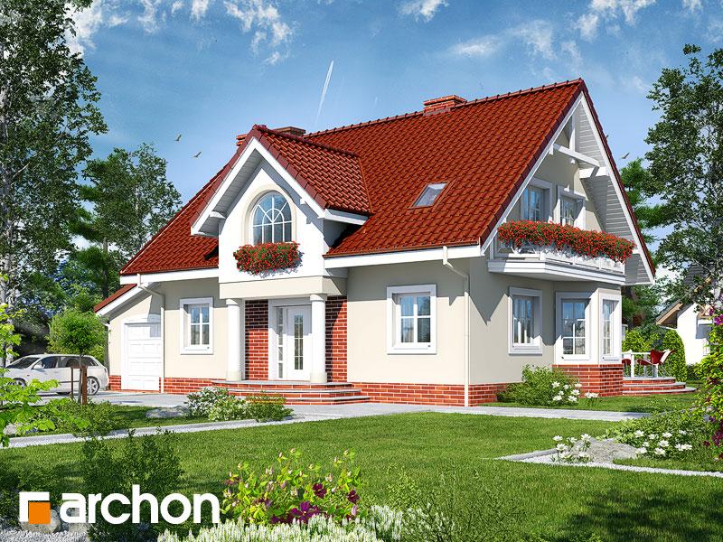 projekt Dom w mirabelkach (G) widok 1