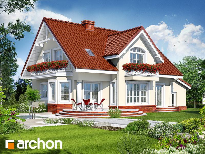 gotowy projekt Dom w mirabelkach (G) widok 1