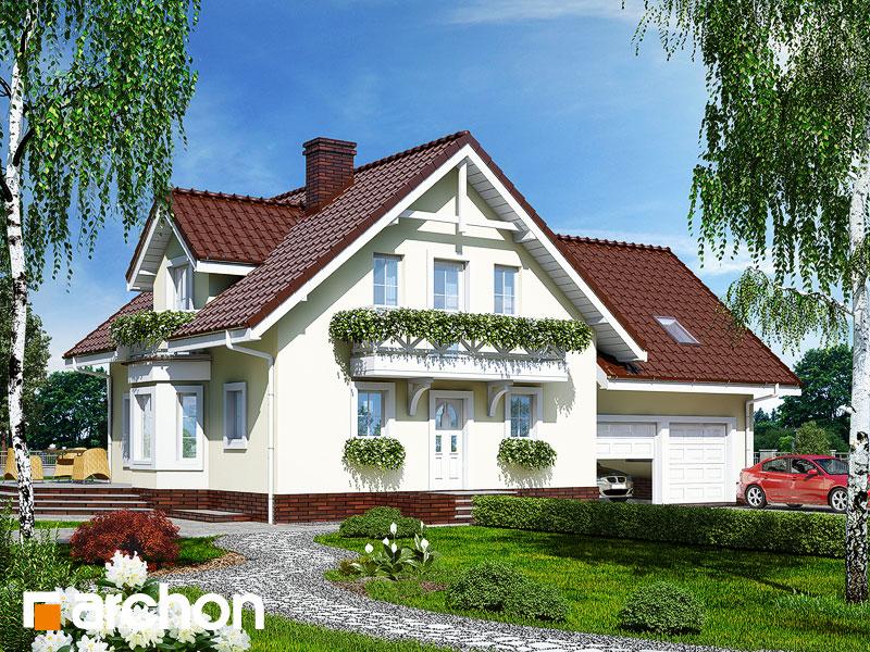 projekt Dom w rododendronach 5 (G2P) widok 1