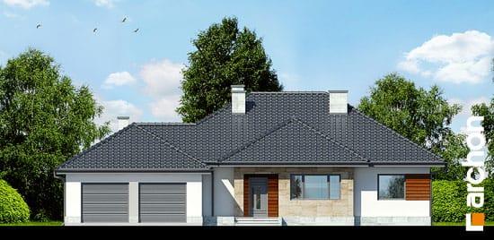 Elewacja frontowa projekt dom w akebiach 2 ver 2  264