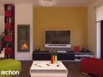 projekt Dom w tamaryszkach 2 (N) Strefa dzienna (wizualizacja 2 widok 2)