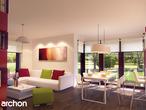 projekt Dom w tamaryszkach 2 (N) Strefa dzienna (wizualizacja 2 widok 1)