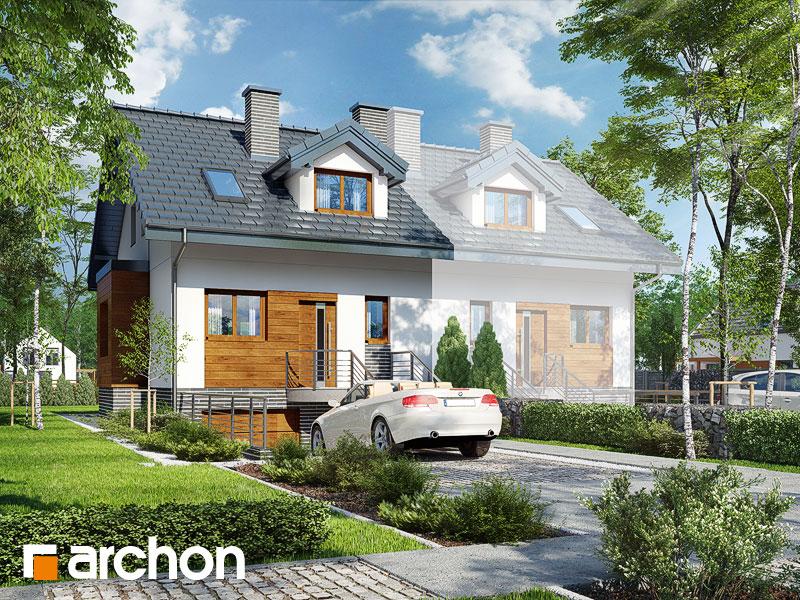 gotowy projekt Dom w cyklamenach 4 (PBA) widok 1