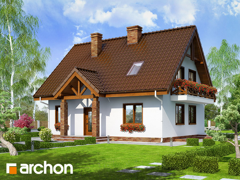 gotowy projekt Dom w prymulkach (P) widok 1