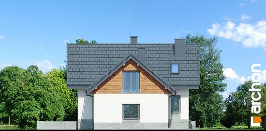 Elewacja boczna projekt dom w pomelo p  266