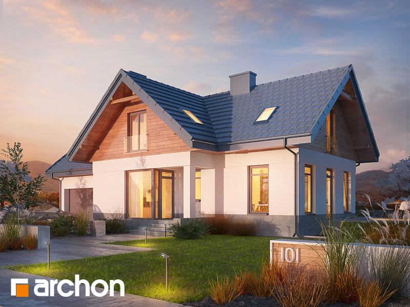 gotowy projekt Dom w pomelo (P) widok 1
