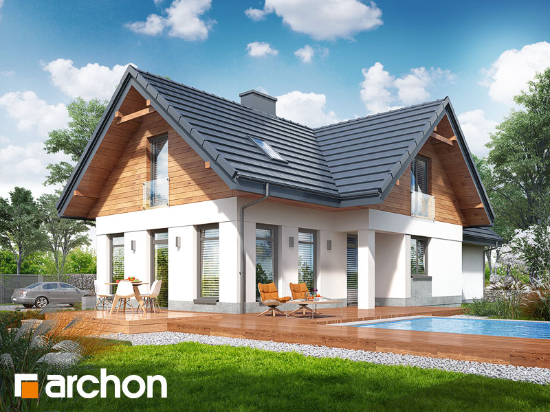 gotowy projekt Dom w pomelo (P) widok 2