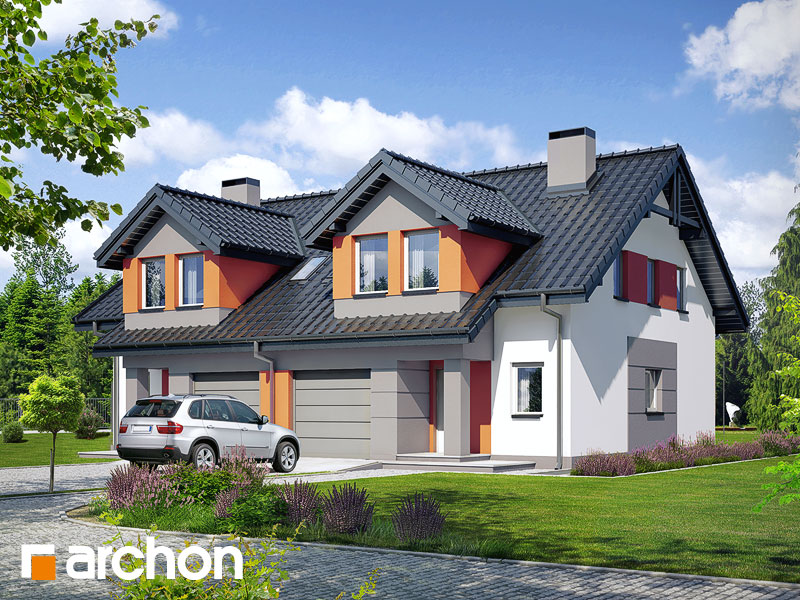 gotowy projekt Dom w klematisach 9 (A) widok 1