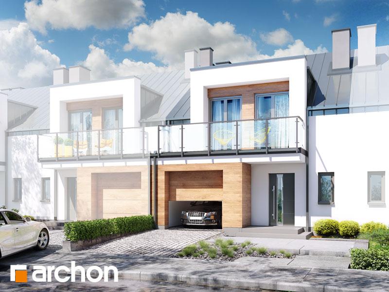 gotowy projekt Dom w klematisach 25 (S) widok 1