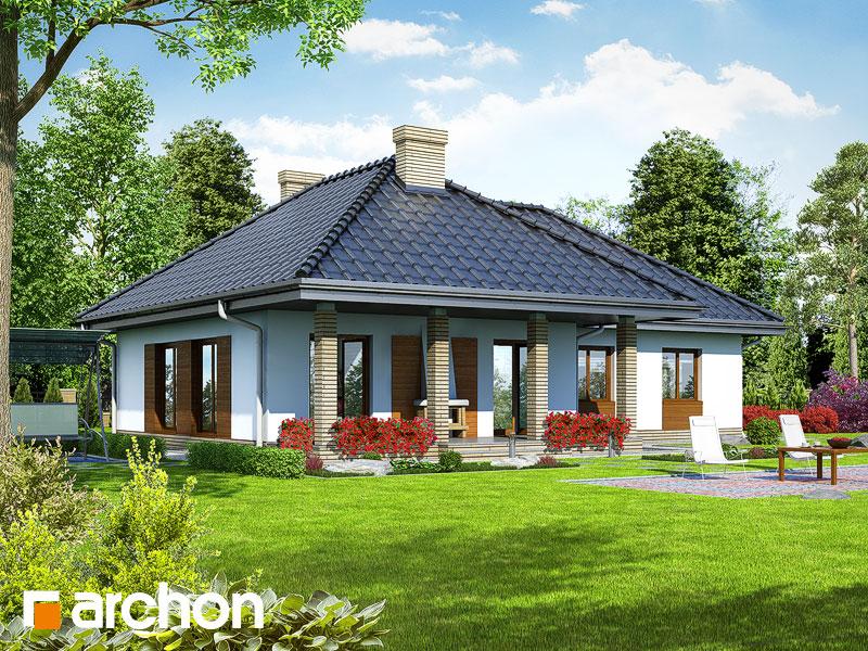 gotowy projekt Dom w gardeniach widok 1