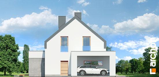 Elewacja boczna projekt dom w aurorach n  266