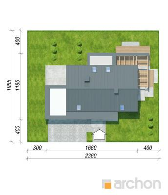 projekt Dom w aurorach (N) sytuacja