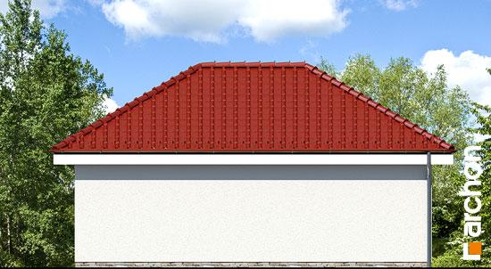 Elewacja ogrodowa projekt garaz 2 stanowiskowy g25a  267