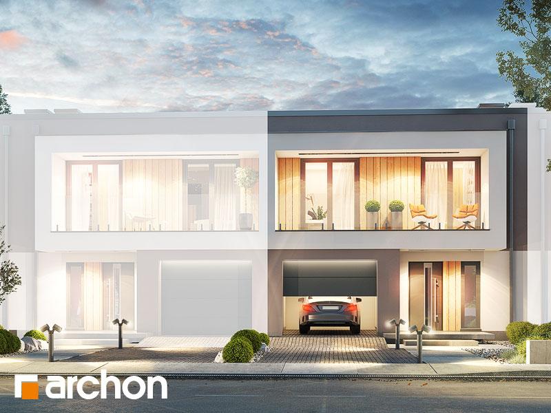 gotowy projekt Dom w klematisach 24 (S) widok 1