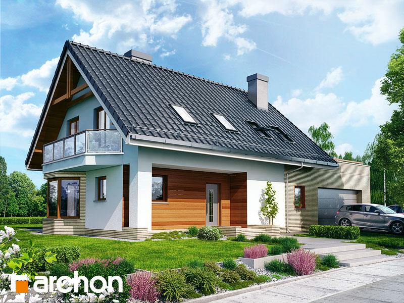 gotowy projekt Dom w dziewannie 2 (G2) widok 1