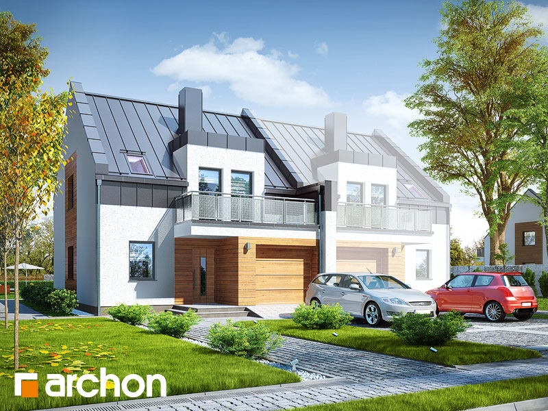 gotowy projekt Dom pod agawami 2 (B) widok 1