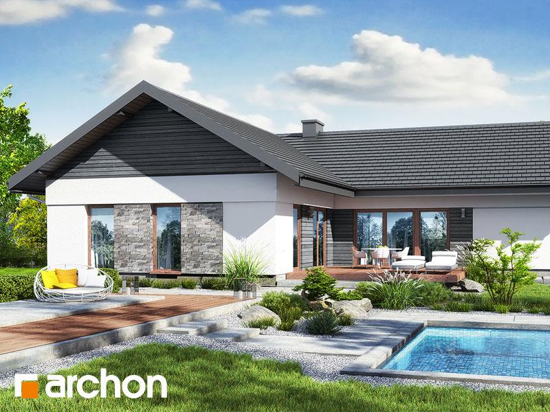 gotowy projekt Dom w nawłociach 4 (G2) widok 2