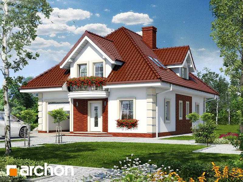 projekt Dom w głogu widok 1