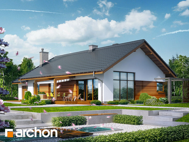 gotowy projekt Dom w mekintoszach (M) widok 2