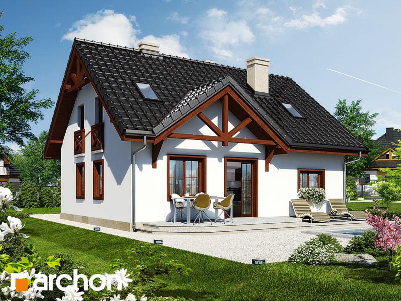 projekt Dom w borówkach 3 widok 1