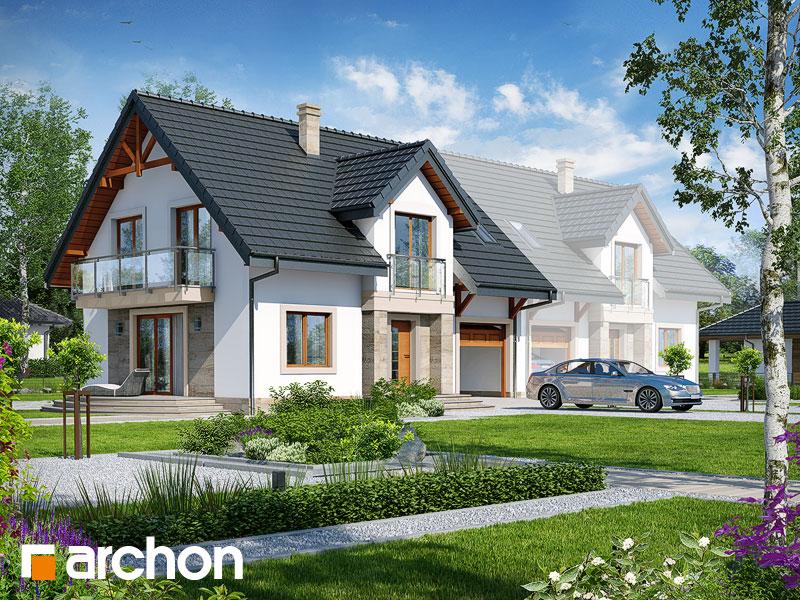 projekt Dom w lucernie 6 (B) widok 1