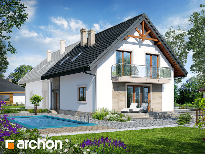gotowy projekt Dom w lucernie 6 (B) widok 2