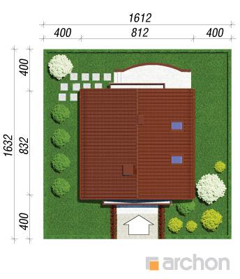 projekt Dom w rododendronach 11 sytuacja