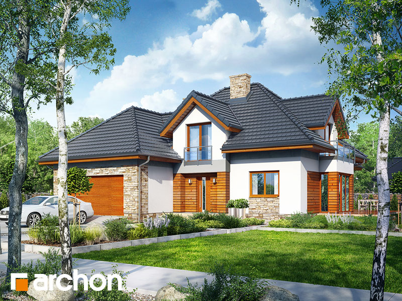 gotowy projekt Dom pod olszą (G2) widok 1